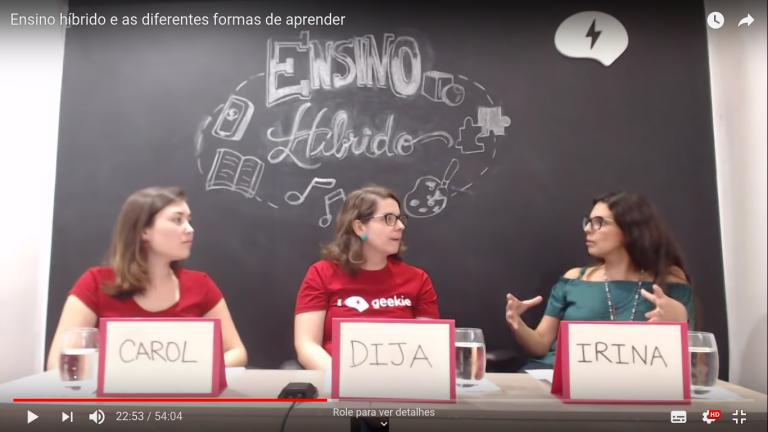 Educadoras conversam sobre Ensino Híbrido NA Geekie